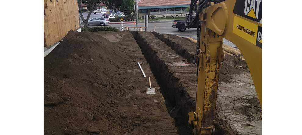 San Marcos Block Wall Footings